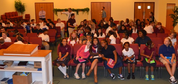 Durring Spiritual Emphasis Week our Junior and Senior High students experienced chapel services every day.