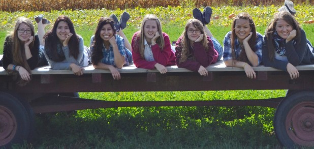 Juniors & Seniors At Edwards Apple Orchard